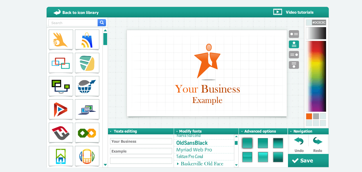 logo genie : Free Tool to Create your company logo